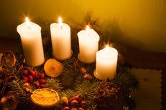 Adventszeitdekorationen Lizenzfreies Stockbild