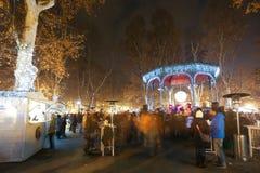 Adventtid på Zrinjevac Royaltyfri Foto