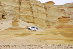 Adventure amoung the Stoned Sand Formations Stock Photography