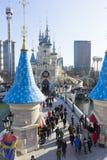 Adventure, amusement, asia, attraction, autumn, castle, coaster, destination, editorial, enjoyment, entertainment, excitement, fa. SEOUL,SOUTH KOREA - December Royalty Free Stock Photo