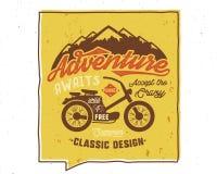 Adventure Awaits Inspiring Creative Poster. Travel Motivation Quote. Vector Typography Banner Design Concept. Vintage vector illustration