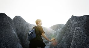 Adventure, Backpack, Casual, Climb Royalty Free Stock Photo