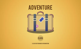Adventure Backpacking Travel Destination Wander Concept Stock Images