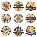 Adventure Badge. Vector illustration of adventure badge design elements Royalty Free Stock Images