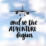 And so the adventure begins. Stock Images