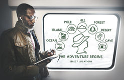 The Adventure Begins Travel Journey Experience Concept Royalty Free Stock Images
