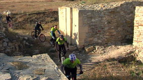 Adventure on bicycle stock footage