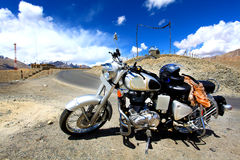 Adventure on bike stock images