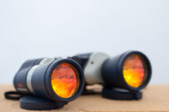 Adventure binoculars Royalty Free Stock Photos