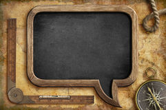 Adventure blackboard background. Royalty Free Stock Images