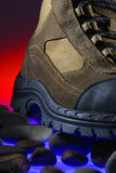 Adventure boot. Colorful photo of an adventure boot Stock Image