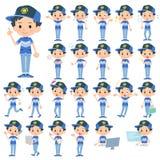 Adventure boy. Set of various poses of adventure boy royalty free illustration