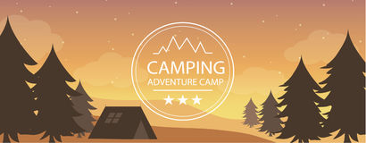 Adventure camping banner Royalty Free Stock Photography