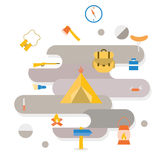Adventure Camping icon Royalty Free Stock Photos