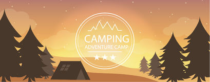 Adventure camping, tourism. Adventure camping vector for your ideas Royalty Free Stock Photography