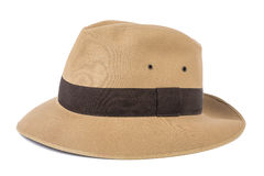Adventure concept. Fedora hat isolated on white Royalty Free Stock Images