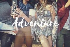 Adventure Destination Expedition Explore Journey Concept. Adventure Destination Expedition Explore Journey stock images
