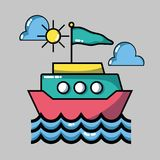 Adventure destination travel to vacation tourism. Vector illustration Royalty Free Stock Image