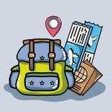 Adventure destination travel to vacation tourism. Vector illustration Stock Photos