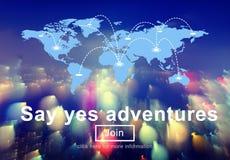 Adventure Enjoyment Exploration Holiday Leisure Concept Stock Photography