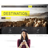 Adventure Exploration  Destination Travel Wanderlest Concept Stock Image