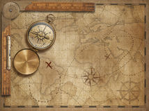 Adventure and explore with old nautical world map 3d illustration map elements are furnished by NASA Royalty Free Stock Photo