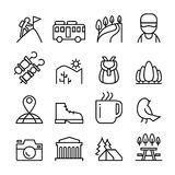 Adventure, Explorer, Discovery, Camping, Traveler, Tourism icon Royalty Free Stock Images
