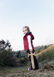 Adventure girl. Young girl playing pretend explorer adventure game outdoors. cute young child having fun stock photo