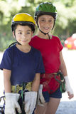 Adventure Girl and Boy Stock Image