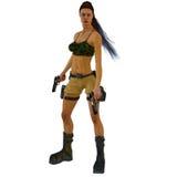 Adventure Girl. A Tomb Raiding adventure girl Vector Illustration