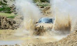 adventure in harsh terrain Royalty Free Stock Image