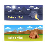 Adventure And Hike Banners Set Stock Image