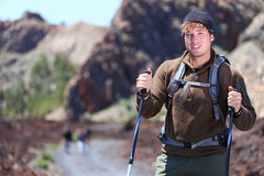 Adventure hiking man royalty free stock photography