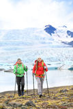 Adventure hiking travel people on Iceland Royalty Free Stock Image