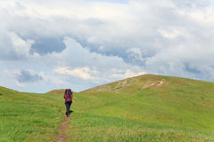 Adventure holiday in summer mountain Stock Photography