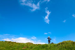 Adventure holiday in summer mountain Royalty Free Stock Photography