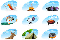 Adventure icons Stock Image