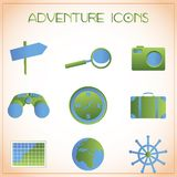 Adventure icons Stock Photos
