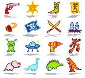 Adventure icons set Stock Image
