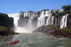 Adventure in iguazu Royalty Free Stock Image