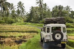Adventure Indonesian. Adventure in Indonesian with jeep Stock Photos