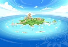 Free Adventure Island - Treasure Island Stock Image - 49542891