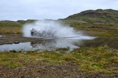 Adventure Jeep On Iceland Royalty Free Stock Photo