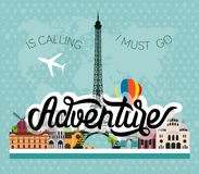 Adventure lettering Stock Photo