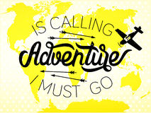 Adventure lettering Stock Photography
