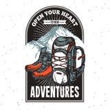 Adventure Lettering Emblem Print Royalty Free Stock Photography
