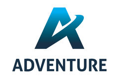 Adventure logo. Dynamic letter a logo design, suitable for professional company Stock Photo