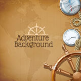 Adventure Map Background Stock Photo