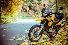 Adventure motorbike Stock Photos