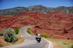 Adventure motorcycle travel Stock Photography